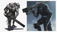 Resident Evil Tyrant, Resident Evil Monsters, Resident Evil 3 Remake, 3 Arts, Master Chief, Game Art, Character Art, Creepy, Concept Art