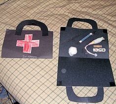 "community helper craft... we did this in my classroom and the kids had so much fun. also added a picture of them holding the ""doctor kit"" on the inside! :)"