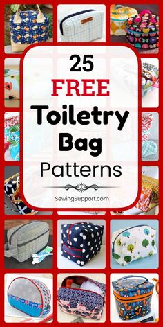 Bag DIY: 25 Free Toiletry Bag Patterns, diy sewing projects, and tutorials. Sew zipper pouch and easy roll up styles that are great for men, women, and kids. Great for travel. Instructions for how to make a toiletry bag or dopp kit. Bag Sewing Pattern, Bag Pattern Free, Bag Patterns To Sew, Crochet Blanket Patterns, Sewing Patterns Free, Free Sewing, Hand Sewing, Clutch Tutorial, Diy Sewing Projects