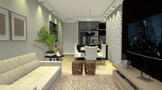 living cozinha sala  - Galeria de Projetos Promob