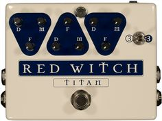 Red Witch is company from New Zealand, which makes analog guitar effect pedals.  Awesome pedals that use lithium ion technology to keep the power going and the pedal small. Check out the Seven Sisters range...