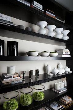 bookcase styling by kelly hoppen