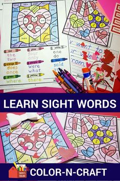 This fun color by sight word activity provides an engaging way to practice words that need to be recognized automatically. Students get to practice reading and writing these words and can turn the finished product into a cute card or display. The heart theme makes a great Valentine's Day activity.  #valentines day activity, #sightwords #TPT #teacherspayteachers, #teaching, #reading,