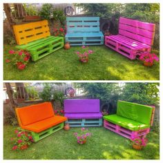 Pallet Patio Furniture Secrets And Advice To Get The Most For Your Money It is important that you know how to look for the right discounts and deals when searching for the furniture you need. Palette Garden Furniture, Pallet Patio Furniture, Diy Garden Furniture, Outdoor Furniture Sets, Outdoor Decor, Palette Diy, House Plants Decor, Pallets, Vertical Bar