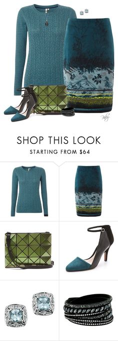 """""""Velvet Skirt"""" by pinkystyle ❤ liked on Polyvore featuring White Stuff, Bao Bao by Issey Miyake, 10 Crosby Derek Lam, Swesky, Swarovski and John Hardy"""
