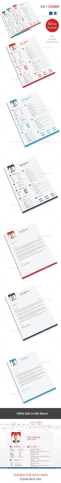 The CV — Photoshop PSD #clean resume #professional resume • Available here → https://graphicriver.net/item/the-cv/13445007?ref=pxcr
