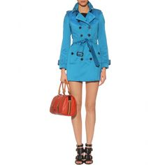 Burberry London Westland Cotton Military Trench - love, love, love this color (azur-blue)!