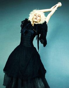 Fashion Gone Rogue 'Fine Frenzy' - The Fashion Gone Rogue 'Fine Frenzy' online editorial gives the traditional Gothic look an eccentric twist. From kooky stares to quirky...