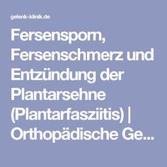 Fersensporn, Fersenschmerz und Entzündung der Plantarsehne (Plantarfasziitis) | Orthopädische Gelenk-Klinik ENdoPRothetikZEntrum (EPZ) Gundelfingen bei Freiburg