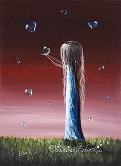 How She Says I Miss You FINE ART PRINT surreal fantasy Shawna Erback Collections