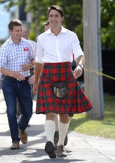 Kilt-Canadian with style.
