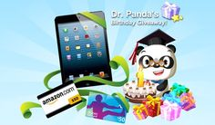 Dr. Panda is one year old and we'd like to thank all of our fans for their love and support. So to celebrate, we're going to give YOU the presents! Enter our giveaway and have a chance at winning an iPad Mini, iTunes gift cards, and Amazon gift certificates!