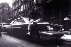 It's the legend, Syd Barrett's Birthday today. Here's a fab photo taken by Mick Rock of Syd with his Pontiac...