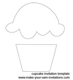 printable cupcake template teaching things pinterest cupcake