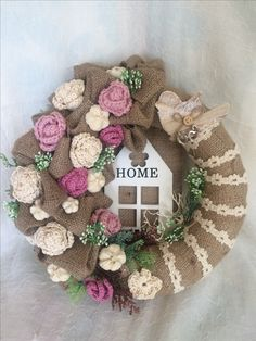 Christmas Door Decorations, Christmas Wreaths, Holiday Decor, Wreaths And Garlands, Door Wreaths, Home Crafts, Arts And Crafts, Diy Crafts, Summer Wreath