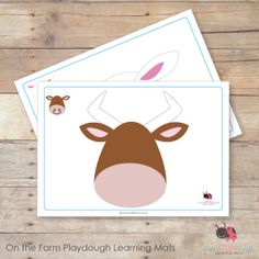 On the Farm playdough learning mats by Busy Little Bugs Quiet Time Activities, Preschool Learning Activities, Toddler Activities, Toddler Busy Bags, Toddler Fun, Farm Party Games, Farm Crafts, Farm Theme, Business For Kids