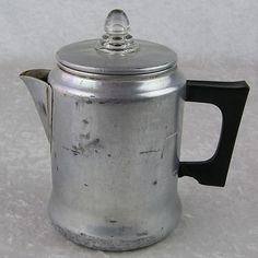 20 00 Vintage Aluminum Stove Top Camping Percolator Coffee Pot 5 Cup Maker W Insides