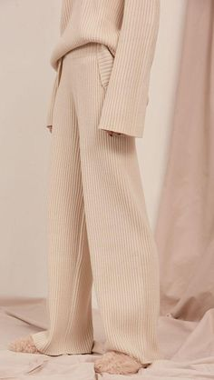 Lounge Wear - Cozy Knitted Superior Midsection Vast Leg Pants – LePastell – the latest lounge wear , fashion , pants pattern , lounge outfit Lounge Outfit, Lounge Pants, Mode Outfits, Fashion Outfits, Womens Fashion, Travel Outfits, Fashion Tips, Look Fashion, Winter Fashion