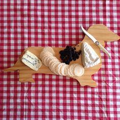 Dachsund Cheese Board, $35