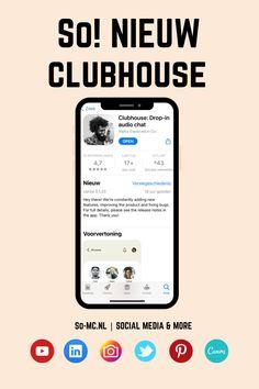 Ja! Clubhouse is de nieuwe trend op het gebied van Social Media Apps! Clubhouse is anders dan de al bestaande Social Networks zoals Instagram, TikTok, Pinterest e.d. omdat dit 'audio based' is. Op dit moment is Clubhouse nog in beta, enkel te downloaden via de Appstores van Apple en 'invite only'. Wil je meer zien van deze nieuwe trend? Bekijk dan hier de Nederlandse Clubhouse Tutorial! #Clubhouse #ClubhouseApp #SocialMediaManager #SocialMediaTrends #SMM Social Media Company, Audio, Invitations, Youtube, Save The Date Invitations, Youtubers, Shower Invitation, Invitation, Youtube Movies