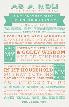 Mother's Day Women's Ministry Proverbs 31 quotes design typography lettering spring colors
