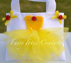 Belle Inspired Tutu Tote Gift Bag - Beauty & the Beast Favor Gift Bag