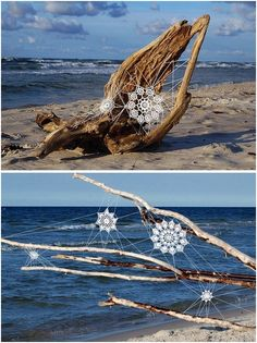 lace installations along the baltic sea by nespoon