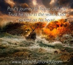 Learn to have Paul's trust in all circumstances.  A blog talking about circumstances