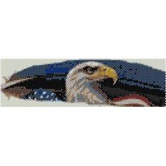 Embroidery Bracelets Design AMERICAN EAGLE - beading cuff bracelet pattern for peyote (buy any 2 patterns - get FREE) - Seed Bead Patterns, Peyote Patterns, Bracelet Patterns, Beading Patterns, Knitting Patterns, Embroidery Bracelets, Bead Loom Bracelets, Peyote Bracelet, Embroidery Stitches