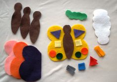 Felt Butterfly Preschool Set and Busy Bag Activity