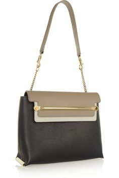 clare small leather shoulder bag | chloé