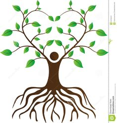 Illustration about A vector drawing represents people love tree with roots design. Illustration of clip, ecology, artistic - 34702441 Tree With Roots Drawing, Tree Of Life Painting, Les Chakras, Tree Clipart, Calla, Simple Tree, Black Tree, Tree Logos, Tree Illustration