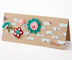 Flowers and Lattice Card - I would eliminate the flowers and just go with the lattice........I really like this.