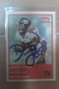 David Tyree New York Giants NFL Signed 2004 Fleer Tradition card VG-MNT. Free Shipping
