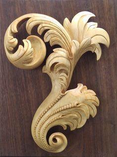Resultado de imagen para wood carving acanthus