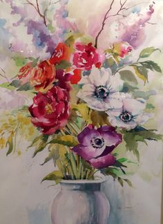 Harmony, 2014, Watercolor by Betsy Jacaruso