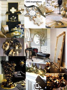 Black and Gold Christmas Inspiration