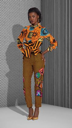 dominerande afrikansk kostym
