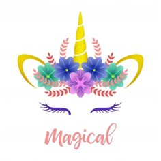 Cute unicorn vector illustration PNG and Vector