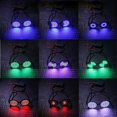 Couleurs Magique de LED Changeant Les Lunettes Luminescents