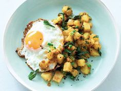 Bill Granger's Indian Spiced Potatoes with Fried Egg- from his newest cookbook EASY