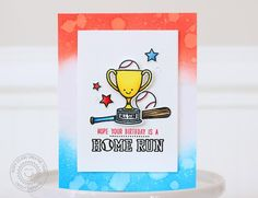 Sunny Studio Stamps: Team Player Baseball Themed Birthday Card by Nancy Damiano