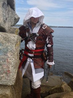 NEW Assassins creed 4 Black Flag Edward Kenway  cosplay costume on ebay, $500.00