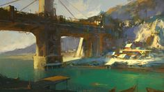 Old Fishing Town by crazypalette.deviantart.com on @DeviantArt