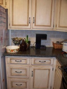 distressed white kitchen cabinets. Cabinets DIY Antiquing Kitchen  Pinterest and crafts Kitchens