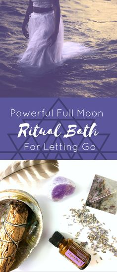full moon bath ritual Full Moons are a time of great movement and momentum. It is the time where we can harness the amazing energy of this moon phase to create palpable shifts in o Spiritual Bath, Spiritual Cleansing, Spiritual Wisdom, Spirituality Art, New Moon Rituals, Full Moon Ritual, Kitchen Witch, Yoga Meditation, Mantra