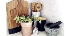 11 Genius Kmart Hacks You Have to Try Marble Herringbone Tile, Kmart Home, White Farmhouse Kitchens, Wooden Brush, Bathroom Tray, Coffee Table Styling, Faux Succulents, Round Mirrors, Bohemian Decor