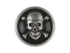 2 Button Skull  Bones 7/8 inch  22 mm  Metal Shank by ButtonJones, $4.00