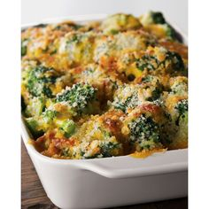 Broccoli & Cheese Casserole (250 BRL) ❤ liked on Polyvore featuring home, kitchen & dining and food
