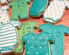 Bodies sonajero y 12 ducha Cookie Favor colección por MarinoldCakes